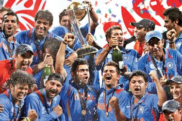 Indian team which beat Sri Lanka in the 2011 Cricket World Cup final.
