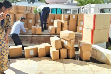 The support kits delivered to the Embassy.