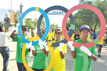 The traditional Olympic Day Run will not be held this year.
