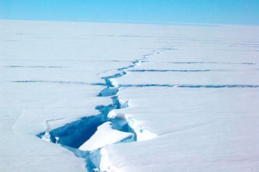 A fast moving crack in an ice shelf in Antarctica could create one of the largest icebergs ever recorded.