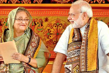 Bangladesh PM Sheikh Hasina with Indian PM Narendra Modi