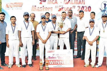 The victorious Sampath Bank team with officials