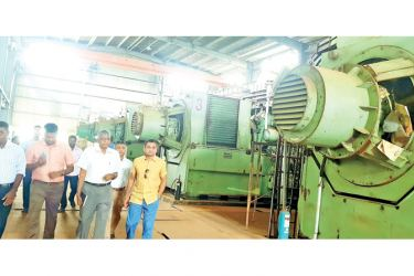 Officials of MTD Walkers visiting the Jaffna plant