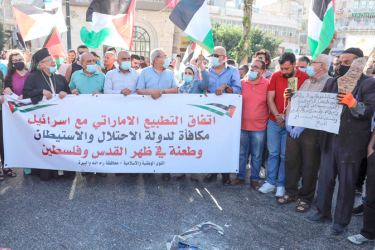 Palestinian factions unite in protest against UAE-Isreal deal