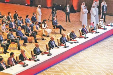 Afghan Government and Taliban peace talks in Doha, Qatar on Saturday.