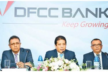 Deputy Chief Executive Officer Thimal Perera, DFCC Bank Chief Executive Officer Lakshman Silva and DFCC Bank Chief Operating Officer Achintha Hewanayake.