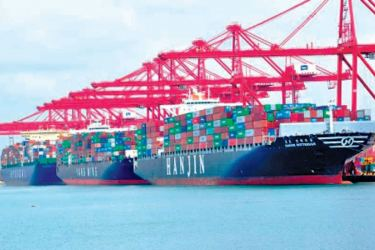 The Colombo Port, the import-export lifeline.