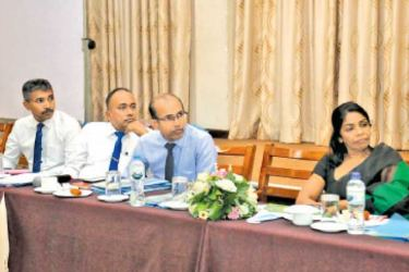 Sabaragamuwa Chief Secretary Ranjani Jayakody and other officials during the discussion.