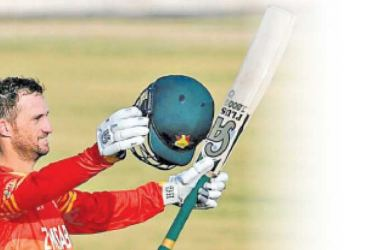 Sean Williams brought up his fourth ODI  century AFP