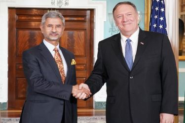 US Secretary of State Mike Pompeo with Indian External Affairs Minister S. Jaishankar