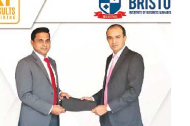 Bristol Institute COO Dilshad Jiffry with Faraz Farook, CEO of Results Training