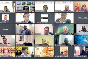 The participants in the webinar.