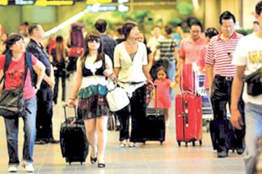 Chinese tourists in Sri Lanka last year