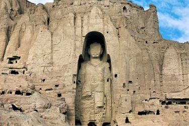The Bamiyan Buddhas destroyed by the Taliban