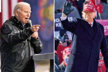 Democratic Presidential challenger Joe Biden and President Donald Trump.