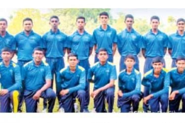 Sri Sumangala College, Panadura First Eleven Cricket Pool 2020. The Captain of the 2020/21 Cricket Team Tharana de Silva is standing 5th from right in the back row. (Picture by Dilwin Mendis – Moratuwa Sports Special Correspondent)