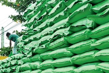 Stock of fertiliser at an Agrarian Services Centre. Picture by I.L.M.RIZAN