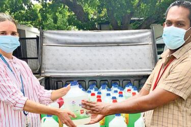 The World Food Programme (WFP) donated a consignment of face masks, face shields, sanitizers, and hand wash to the Education Ministry, recently.