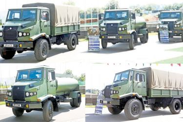 The newly-designed models of a Gully Emptier, Water Bowser and Multi-Purpose Truck produced by the Sri Lanka Electrical Mechanical and Engineering (SLEME) Regiment were exhibited on Thursday.