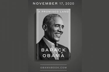 """The cover of former US President Barack Obama's book  """"A Promised Land"""""""