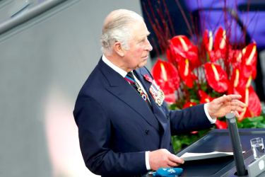 Britain's Prince Charles addressing the Bundestag Lower House of Parliament in Germany.