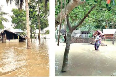 Floods in the Batticaloa District.