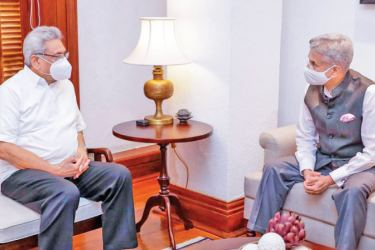 President Gotabaya Rajapaksa meeting Indian External Affairs Minister Dr S Jaishankar.
