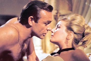 James Bond and Pussy Galore in the Bond film 'Goldfinger'