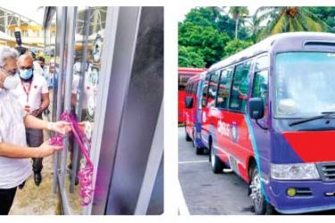 President Gotabaya Rajapaksa launching the newly developed Park and Ride bus service