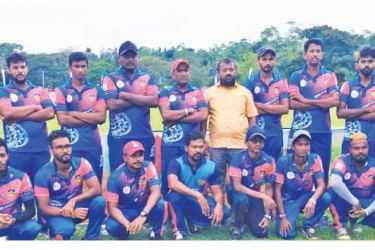 Champion Super Express team with officials.