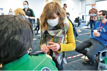 Volunteers are being trained by St John Ambulance to administer the Pfizer-BioNTech and AstraZeneca vaccines.