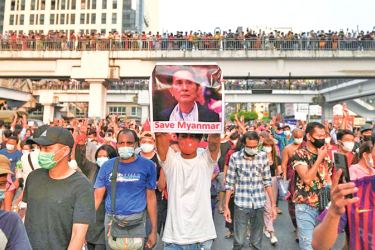 Tens of thousands of people take part in the largest protest in Myanmar after the recent military coup.