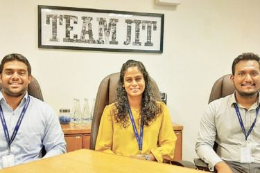 Tirantha Mahapatuna – Business Relationship Manager, Outsourcing, Dilshani Fernando – Group Manager HR and Kushan Basnayake – Senior HR Executive of JIT.