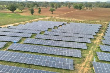 Views of the ground-mounted Solar PV power plant