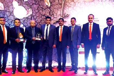 Officials with the award
