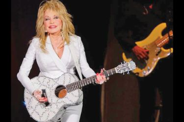 Country superstar Dolly Parton performs in concert in Nashville, Tennessee in 2015.