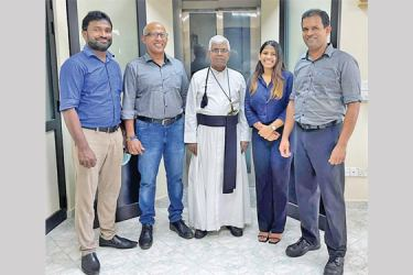 Rev. Fr. Srian Ranasinghe,  Managing Director Dipra, D. D. Anton.and other officials at the event
