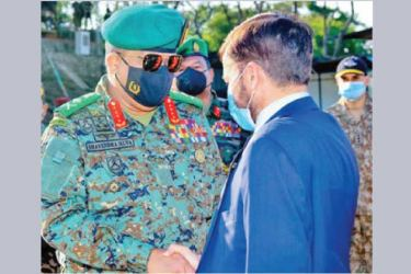 Chief of Defence Staff and Army Commander General Shavendra Silva and High Commissioner of Pakistan Major General Muhammad Saad Khattak (Retd).