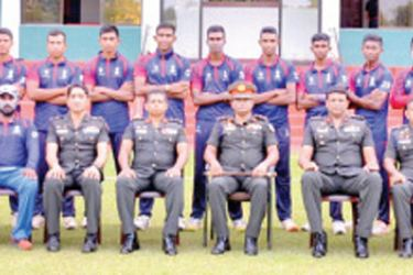 Sri Lanka Engineering Corps (SLE) team which won the Inter Regiment Cricket Tournament, organized by the Army Cricket Committee