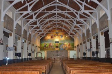 Interior of the church refurbished by the Navy