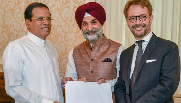 The invitation to grace the Conference, signed by Premier Modi and  President Macron, was handed to the President  jointly by Indian High Commissioner Taranjit Singh Sandhu and French  Ambassador Jean-Marin Schuh yesterday.