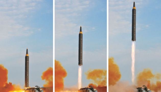 File photo of North Korea's Hwasong-12 missile launch last year.