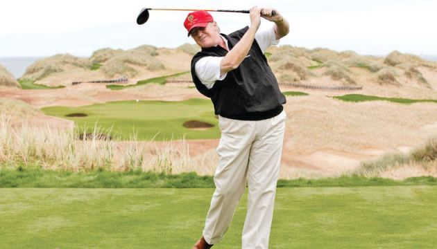 Donald Trump has clocked up 103 visits to a golf course as President.