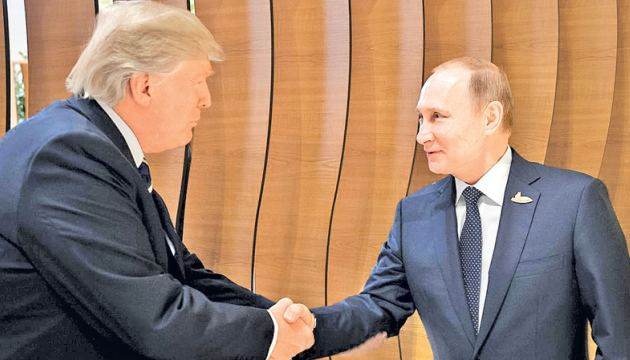US President Donald Trump and Russian President Vladimir Putin during one of their previous meetings.