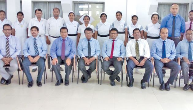 The medical team which performed the transplant at Kandy Hospital.