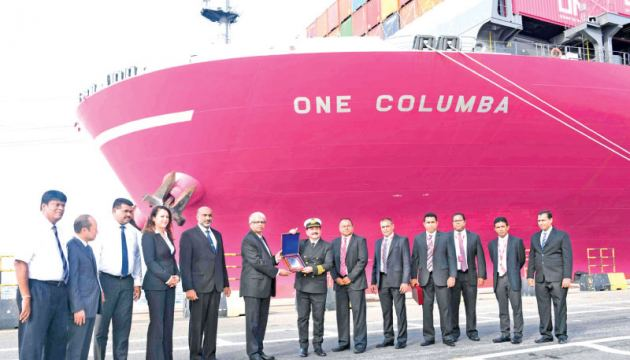 Ocean Network Express and SLPA offcials in Colombo Port
