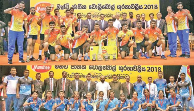 The Munchee Open National Men's (Sri Lanka Ports Authority) and Women's (Air Force) winners.
