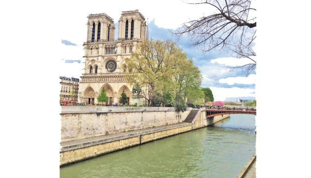 Notre Dame Cathedral on the bank of the River Seine in the heart of Paris. Picture by Samangie Wettimuny