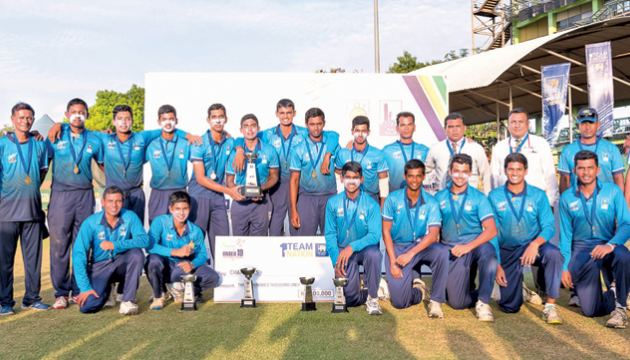 The victorious Team Colombo with the trophy