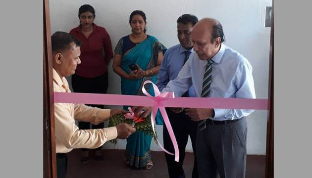 HelpAge, Council Member Nimal Dias Jayasinghe, Executive Director Samantha Liyanawaduge and Manager Janaka Seneviratne at the opening of the Home Care Training Centre.